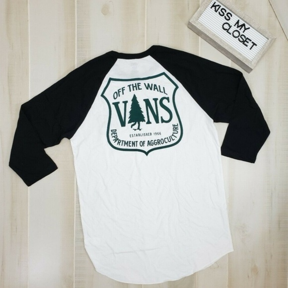 Vans Men's Raglan Tee 34 Sleeve Med NWT NWT